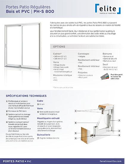 PDF de vente Service de vente de porte-patio à Berthierville - Portes et Fenêtres E. Charrier